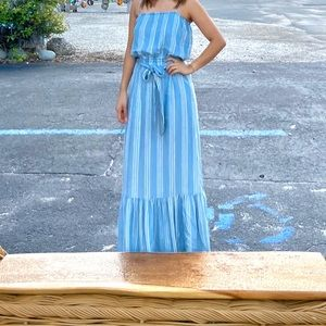 Midi/maxi dress with stripes